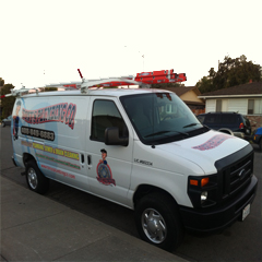 Tony's Plumbing Co an Image of our Company Van